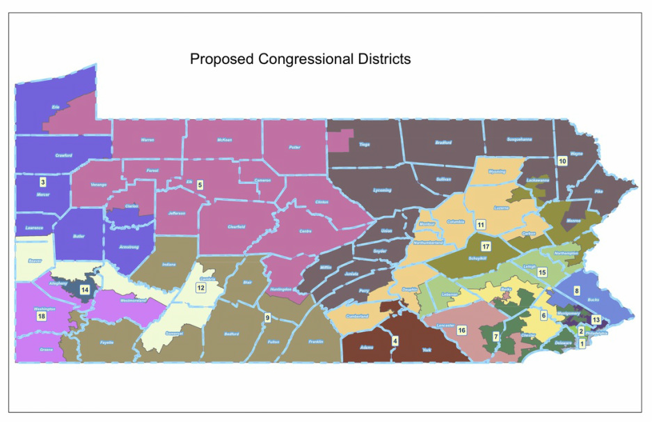 The Map  The Pennsylvania Republican Gerrymander